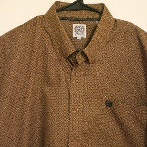 Cinch Long Sleeve Button Western Shirt Size Large